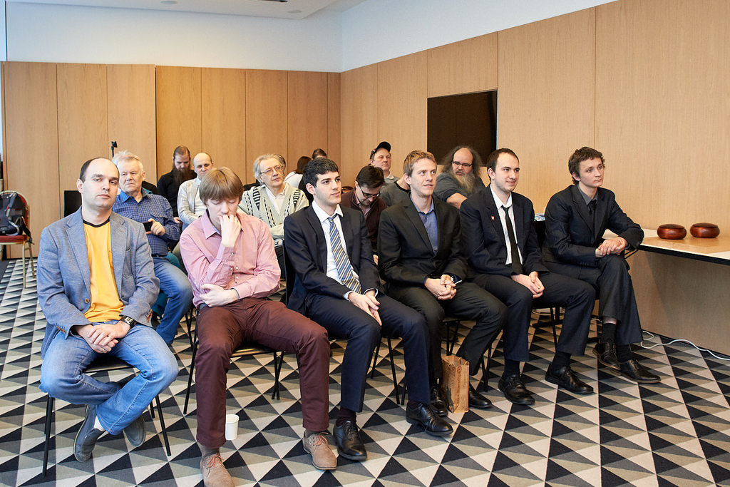 The professionals' row (from the left): Alexandre Dinerchtein, Ilya Shikshin, Ali Jabarin, Pavol Lisy, Mateusz Surma and Artem Kachanovsky